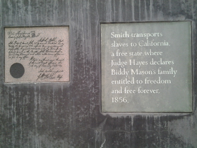 1856: Biddy fam free in CA.