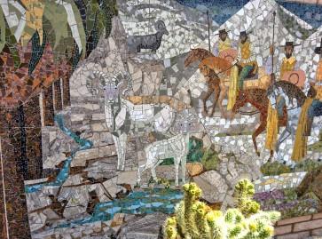 mural detail big horns