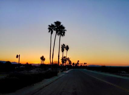 road at sunrise
